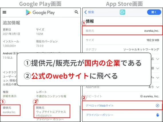 マッチングアプリ_アプリストア確認事項